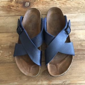 Birkenstock Biirki's Dijon Navy blue sandals